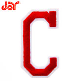 Red Embroidered Iron-On Letter C - 3""